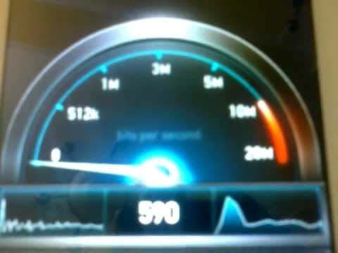 MTNL wifi 512 kbps speed test in mobile phone micromax a110 canvas 2