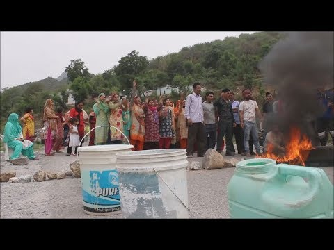 Protesting Reasi residents block traffic against erratic water supply