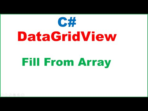 C# DataGridView Ep.01 : Fill From Array