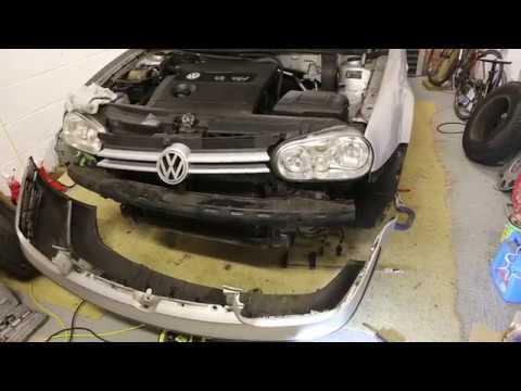 VW Golf/Jetta/Bora - How to Remove Front Bumper to replace headlights/alternator