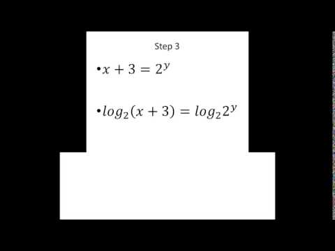 how to find the inverse of the function y=2^x-3