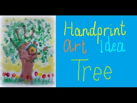 HANDPRINT Art Idea for Children - TREE