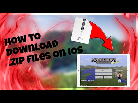 MCPE How to install any .zip files (.zip file maps) on iOS for Minecraft Pocket Edition (NO JB/PC)