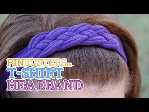 Making A T-Shirt Headband // DOES THIS REALLY WORK?