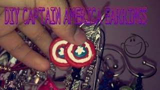 DIY CAPTAIN AMERICA EARRINGS!