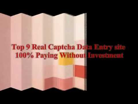 Top 9 Real Captcha Data Entry site 100% Paying Without Investment