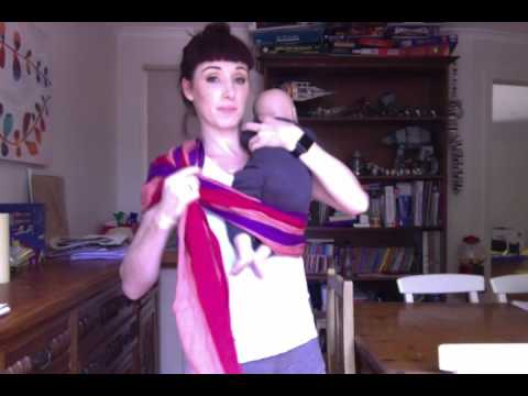 WITH SUBTITLES: How to ring sling (with a TWIST) for a newborn
