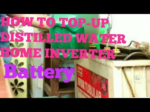 HOW TO FILL BATTERY WATER IN HOME INVERTER/UPS BATTERY(EXIDE) (Distilled water filling in Battery)