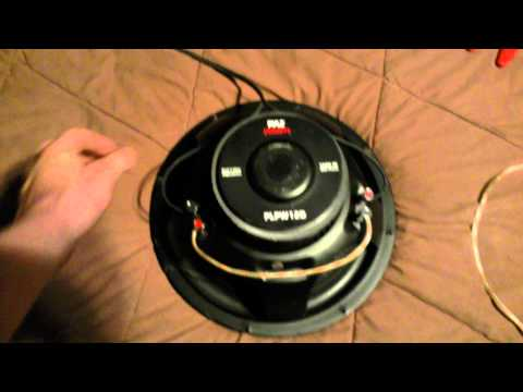 How to wire a subwoofer in series an parallel