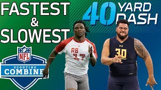 Top 5 Fastest & Slowest 40-Yard Dash Times Since 2008 | NFL Combine Highlights