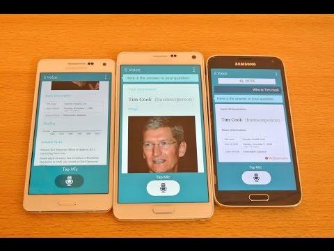 Samsung Galaxy A5 vs Galaxy Note 4 vs Galaxy S5 - S Voice Comparison HD