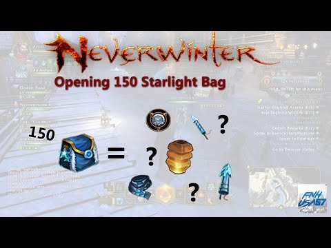 Neverwinter: Opening 150 Starlight Bag