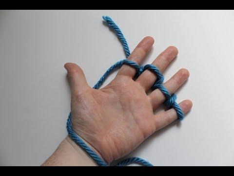Finger Knitting a Blanket