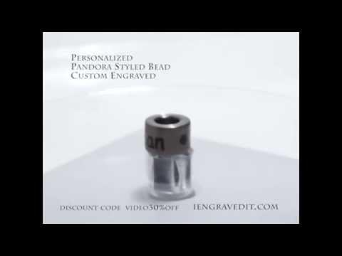 Pandora Styled Bead Custom Engraved iengravedit