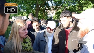 Strange Views! Hamza Vs Lady with strong views   Speakers Corner   Hyde Park