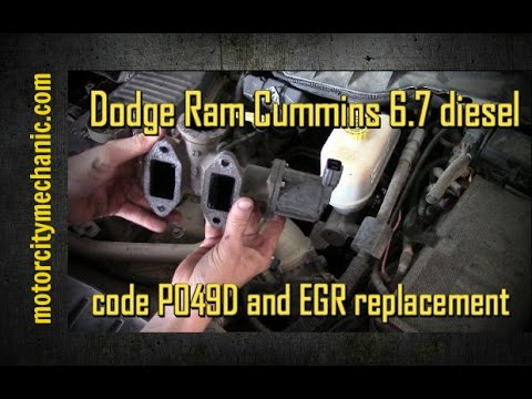 Dodge Cummins 6.7 diesel code P049D and EGR replacement