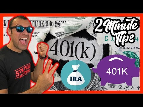 2 Minute Tax Tip S-Corp Retirement Plan Tax Deductions SEP IRA Solo 401K For S Corps & Self Employed