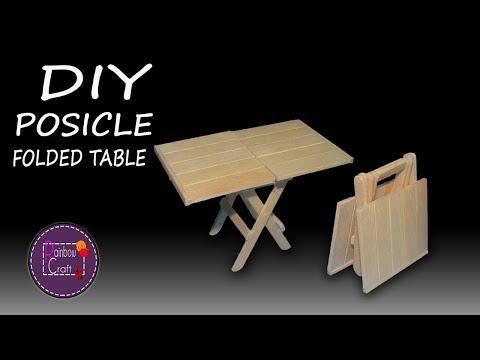 How to Make Popsicle Stick Folded Table | No Popsicle House | No Cardboard House