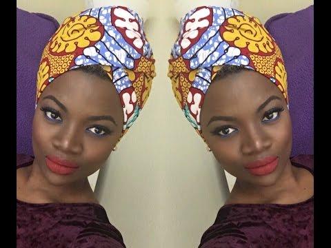 Easy African Headwrap Tutorial.