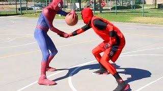 Spiderman vs Deadpool Basketball ...SuperHero Basketball