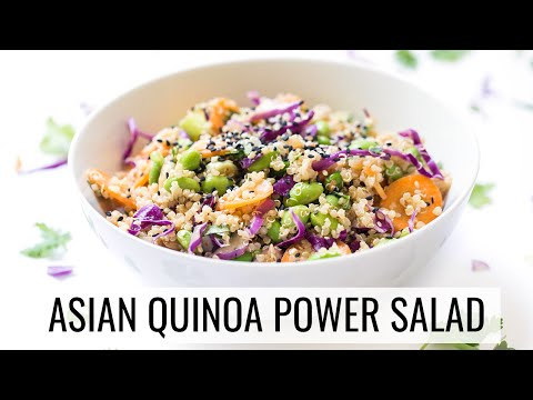 ASIAN QUINOA POWER SALAD | healthy lunch recipe | #SALADWEEK