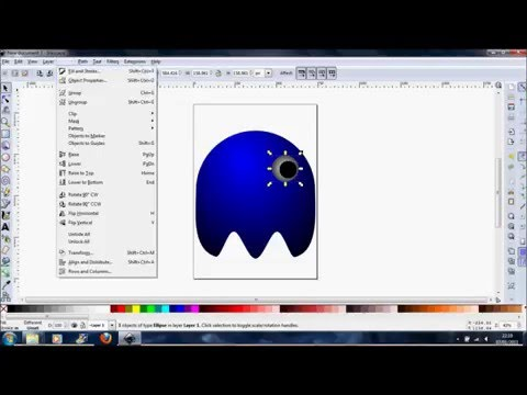 How to create a Pacman Ghost with Inkscape