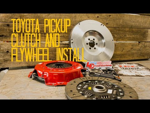 Toyota Pickup Flywheel and Clutch Install