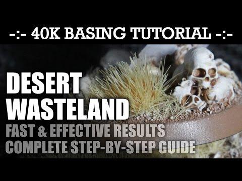 40K Basing Tutorial: DESERT WASTELAND! (Desert Terrain Series) | HD