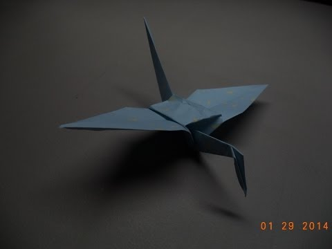 How to Fold an Origami Flying Crane