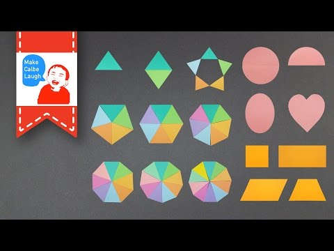 Learn Shapes for Children Baby Toddlers Kindergarten Kids with color paper