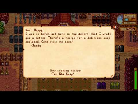 How to learn TOM KHA SOUP cooking recipe - Stardew Valley