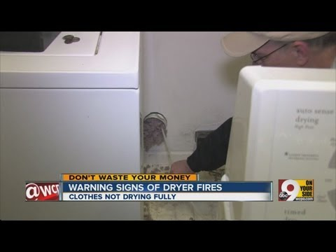 Warning signs of dryer fires