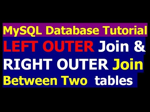 How To Create Left Outer Join And Right Outer Join Between Two Tables- MySql Tutorial Part 26