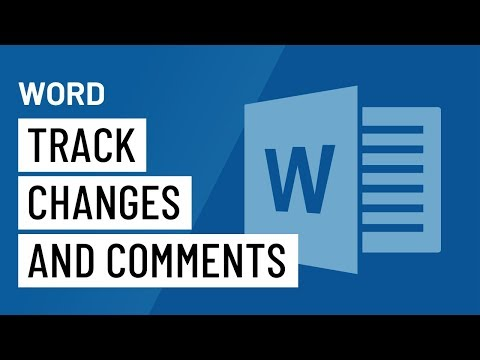 Word 2016: Track Changes and Comments