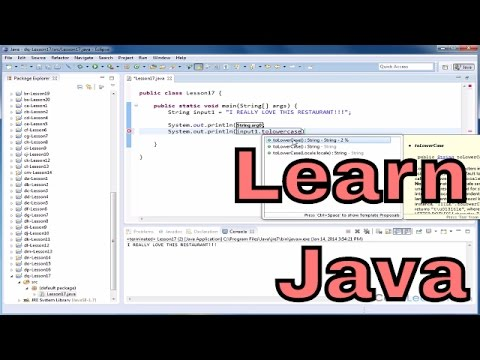 Lesson 17 - Java Programming Tutorial - Changing A String To Lowercase Or Uppercase