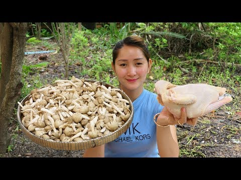 Yummy Chicken Sour Soup With Mushroom - Wild Mushroom For Chicken Sour Soup - Cooking With Sros