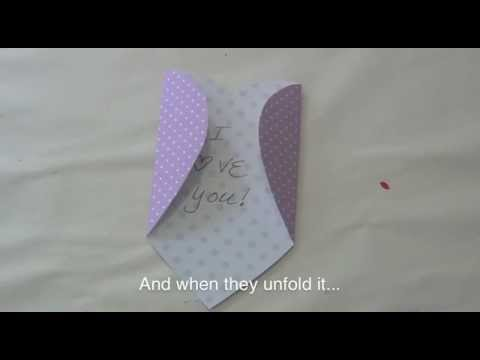 How to Make a heart envelope for Valentine's Day
