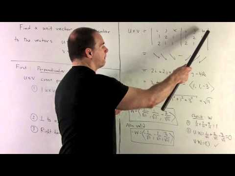 Unit Vector Perpendicular to Two Vectors