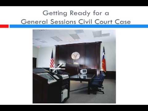 Getting Ready for a General Sessions Civil Court Case