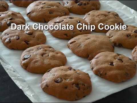 Dark Chocolate Chip Cookie (Redued fat crispy chewy recipe)