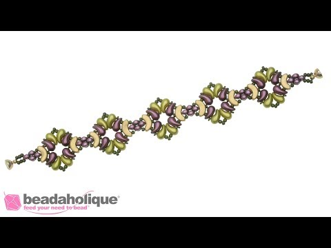 How to Make the Orleans Bracelet featuring the Czech Glass ZoliDuo 2-Hole Curved Drop Beads