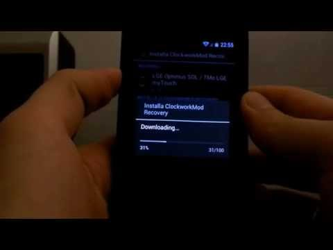 Install ClockWorkMod Recovery Lg Optimus Sol (e730 ) ITA-ENG