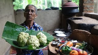 Cauliflower Fry Recipe ❤ Cooking Devilled Cauliflower in my Village by Grandma