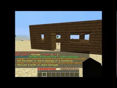 Tutorial Minecraft - Come usare Bukkit plugin Residence