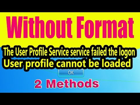 User Profile Service Failed the Logon: [SOLVED]