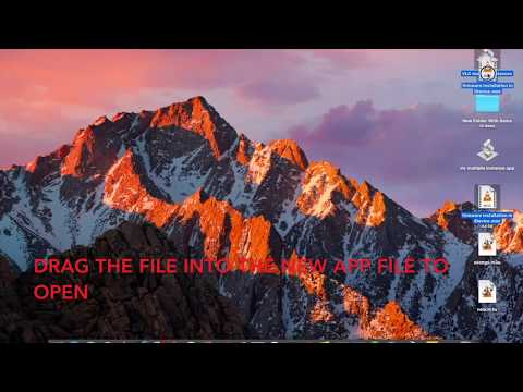 run multiple instances of VLC in MAC OS / open multiple video files in separate vlc window in mac os