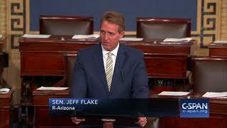 Sen. Jeff Flake condemns President Trump