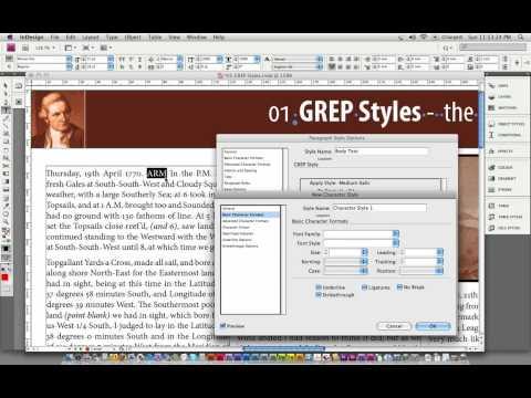 InDesign CS4 - GREP Small Caps