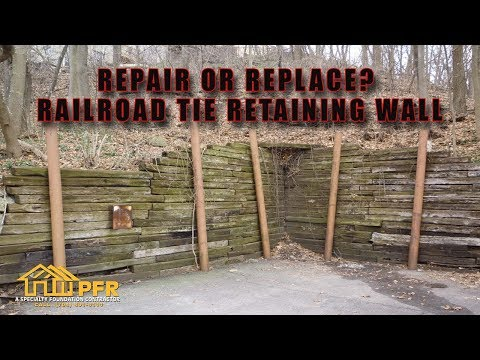 REPAIR OR REPLACE RAILROAD TIE RETAINING WALL   CHARLOTTE NC