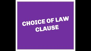 Download Choice of Law Contract Clause explained by Attorney Steve Video